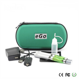 Wholesale Ego Ce4 Electronic Cigarette Set - eGo CE4 Double Starter kit 2 CE4 atomizer 2 batteries in eGo zipper case 650mah 900mah 1100mah battery Electronic Cigarette set series dhl