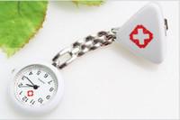 relojes de dedo rojo al por mayor-Reloj de bolsillo del cirujano de la enfermera de la manera Wholesale10 PC / lot Más color Relojes médicos envío libre