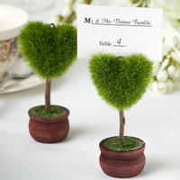 Wholesale Tree Place Card Holders Wedding - Cheap Novel heart shaped Tree Topiary place card holder wedding decoration