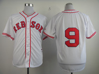 Wholesale Cheapest Branded Shirts - Ted Williams Boston Red Soxs Home jersey white #9 stitched baseball shirts cheapest baseball jerseys for sale 2014 hot sales brand jerseys