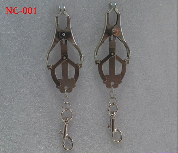 Butterfly shape Steel Nipple Breast clitoris Flirt clamps clip with chain SM Bondage Sex Toys Women Female Sex Toys NC-001 6Styles