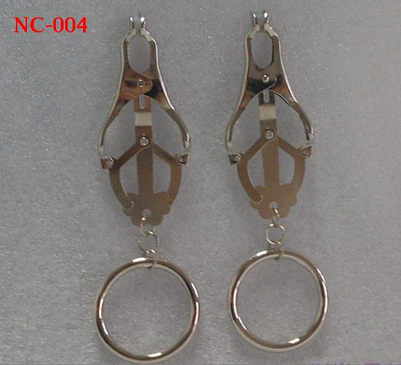 Nipple Breast clitoris Flirt clamps clip with chain /clamps / rings SM Bondage Sex Toys Women Female Sex Toys NC-003 6Styles