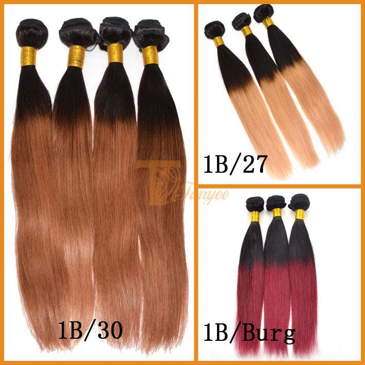 5a Ombre Hair Weave Virgin Brazilian Hair Straight Or Cheap Human