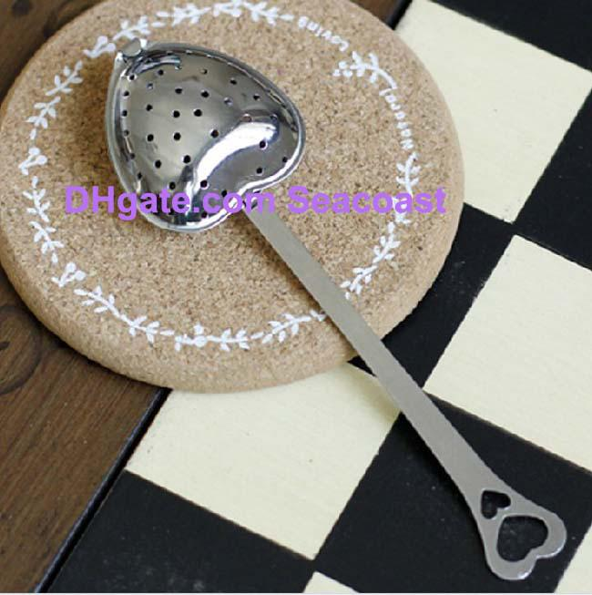/ロットステンレス鋼ハート型ハート形茶注入装置ストレーナーフィルタースプーンスプーン結婚式パーティーギフトの賛成