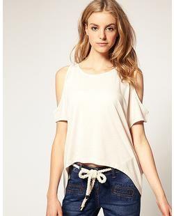 506582709c1 Fashion Women High Low Cropped Oversize Shoulderless T Shirt Candy Color  Option Buy Shirt Ti Shirt From Wengzuiqin0222, $28.42| DHgate.Com