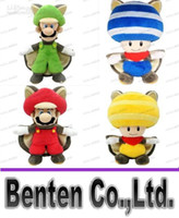 "Wholesale Mario Squirrel Plush - LLFA4416 Free shipping Anime Toy Hot sale Super Mario Wii U Musasabi Flying Squirrel Mario 9.5"" Plush Figure Doll 4 styles can choose"
