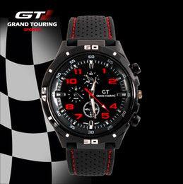 Wholesale Gt Grand Touring Watches - 2014 F1 Grand Touring GT Men Sport Quartz Watch Military Watches Army Japan PC Movement Wristwatch Fashion Men's Watches