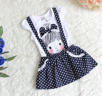 Wholesale Girls Dress Patterns Free - Wholesale - Summer Children's Dresses Children dresses girls little girl pattern bowknot dot strap free shipping