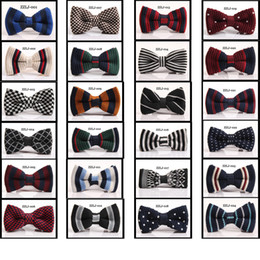 Wholesale Knitted Bowties - 200pcs  lot New Arrive HOT!Men Neck Knitted Bowtie Bow Tie 75 Color Pre-Tied Adjustable Tuxedo Bowtie wholesale bowties