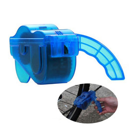 Wholesale bike cleaner - Bicycle Chain Cleaner Machine Cycling Bike Brushes Scrubber Wash Clean Tool Kit Road Mountain Bicycle mountaineer Tool kits