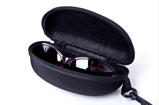 Retail large Capacity Zipper Hard Black Sunglasses Case Box Spectacles Glasses Pouch Bag Eyewear Box Glasses Cases Sport sunglasses Case
