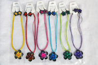 Wholesale American Polymers - FREE 12sets lot Handmade Polymer Clay FIMO flower Silk chain necklace+earrings New Sexy Leopard Fashion Women Jewelry nx0011