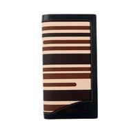 Wholesale Leather Ladies Billfold - Ladies Wallet PU Leather Stripe Long Purse Billfold #24520
