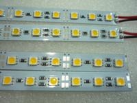 12 volt led streifen weiß großhandel-MOQ5 50cm LED starre Streifen Lichter Bar 12 Volt 0,5m 5050 SMD Kabinett Auto Offroad-Streifen Lampen 12V Warmweiß CE ROSH 2 Jahre Garantie