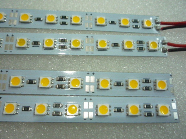MOQ5 50см светодиодные жесткие полосы света 12 Вольт 0,5 м 5050 SMD Кабинет Внедорожник полосы лампы 12 В теплый белый CE ROSH 2 года гарантии