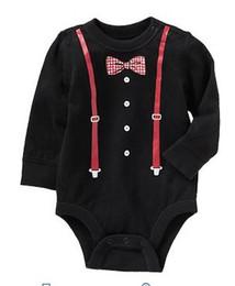 Wholesale Doomagic Girls - Wholesale - 2014 doomagic black gentleman Rompers Body Suit Baby One-Piece Rompers Long Sleeve Romper Onesies -DZY770H