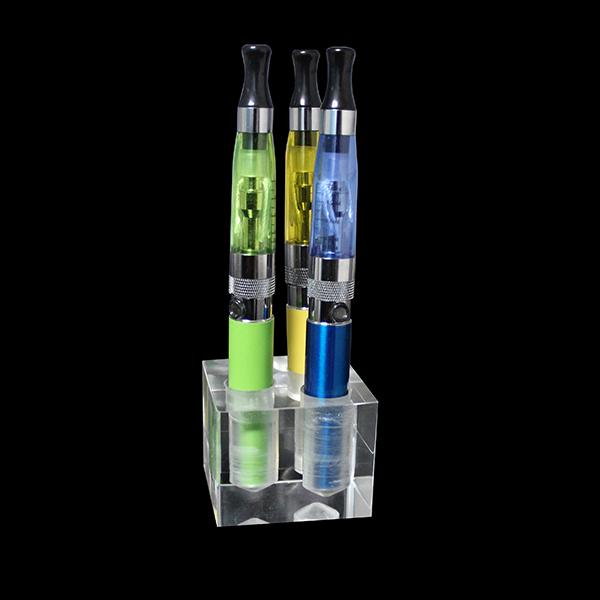 Acrylic e cig display showcase case smoking vaporizer clear stand show shelf holder rack box for clearomizer atomizer ecig battery DHL free