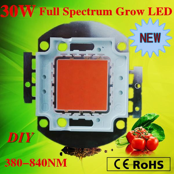 LED plant grow light chip super intensity indoor grow led light full spectrum 380-840nm 30W cob led for growing free shipping
