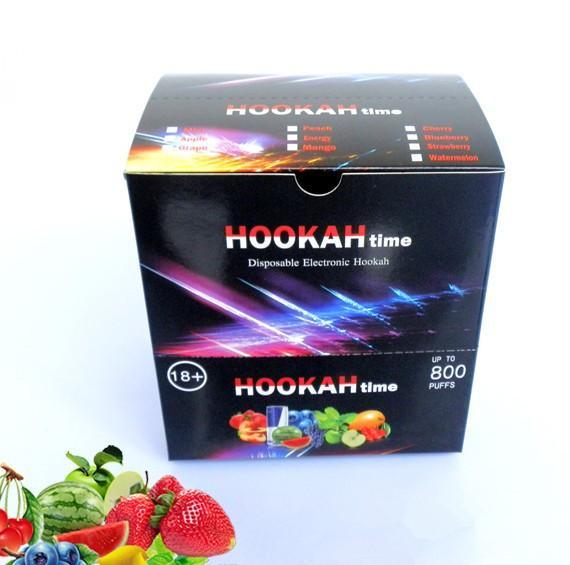 New Style Colorful Brand Disposable smoke e shisha hookah time 800 puffs e shisha hookah pen crystal tip high quality E Cigarette