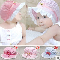 Hot Sales 10pcs lot baby a flower cap infant lovely sunhat p...
