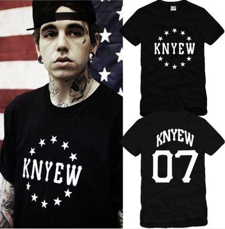 free shipping hiphop clothing KNYEW t shirt stars printed t-shirts BEEN TRILL HBA t-shirt 100% cotton 6 color