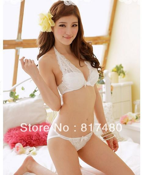 Thin Bra White Underwear Racerback Seamless Side Buckle Sexy Lace Young Girl Bra Set Bras Bra Sets Bra And Underwear Set Bra Underwear Sets Online With