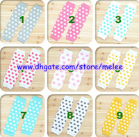 Wholesale Leg Warmer For Girls - New Baby Polka Ruffle Leg Warmers Children Chevron Leg Warmer Girls dot Legwarmers Big Discount 9Color For Choose 36pc=18pair,3M-10T Melee