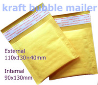 Wholesale Envelopes Bags - #0000-Small Kraft Bubble Mailers Padded Envelopes Bags 110x130+40mm Externally