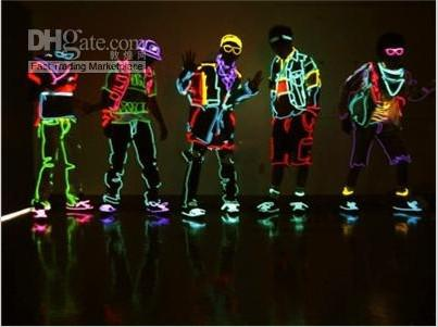 Flexible Neon Light Waterproof LED String Lights EL Glow Wire Rope Tube With Controller For Halloween Christmas Party Decoration