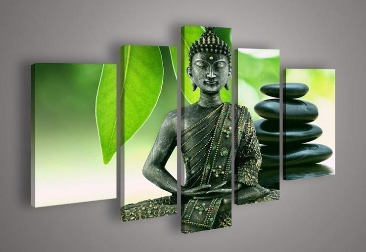 Buddha Figure Wholesale Green Landscape Hand Painted Art Oil Painting  Abstract Modern Paintings Canvas Living Room Art Painting Picture Part 20