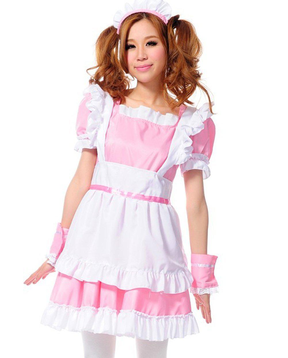 Treasure Box Womenu0027s Lolita French Maid Costume Pink Maid Dress Halloween Costumes For Groups Of 3 Halloween Costumes Group From Stonerain $25.13| Dhgate.  sc 1 st  DHgate.com & Treasure Box Womenu0027s Lolita French Maid Costume Pink Maid Dress ...