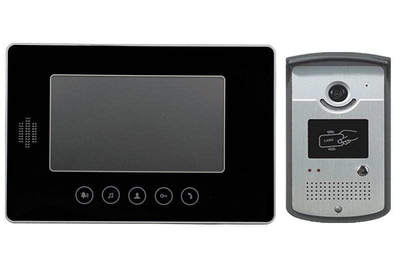 Wired Tft 7 Color Lcd Video Door Entry Phone Intercom System With