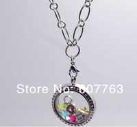Wholesale O Ring Necklace Charms - 2014 New 28'' 7mm 316L Stainless steel Big Chunky Rolo Big Small O Ring Linked Chain Necklace for Floating Charm Living Locket