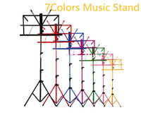 Wholesale Guitar For Metal Music - Colourful Sheet Folding Music Stand Metal Tripod Stand Holder With Soft Case For Guitar Free Shipping Wholesales