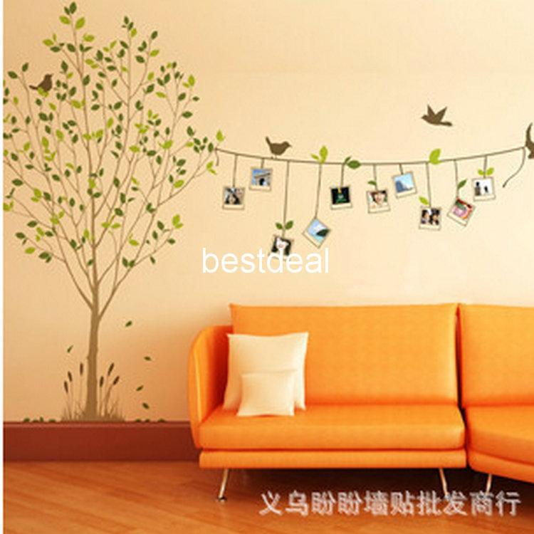Tree Of Life With Photo Frames Bird Sticker Memory Tree Wall Decal  Combination Living Room Wall Stickers Picture Frames Natural Wind Lm8001  Stickers On ...