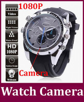Wholesale Night Vision Wrist Watch - Novel DVR CCTV 16GB Waterproof Full HD 1080P Spy Watch Cameras with IR Night Vision W5000 wrist watch Mini DV Hidden Pinhole camera