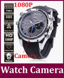 Wholesale Spy Wrist Watches - Novel DVR CCTV 16GB Waterproof Full HD 1080P Spy Watch Cameras with IR Night Vision W5000 wrist watch Mini DV Hidden Pinhole camera