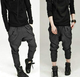 Wholesale Casual Athletic Hip Hop - Newest Baggy Men trousersSweat Pants Athletic Sporty Casual Tapered Sport Hip Hop Dance Trousers Pants