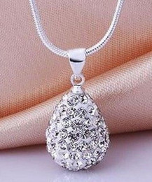 shamballa heart pendant necklaces Australia - Lowest Price! Best Gift Free Shipping New Arrivals Pave Shamballa Water Drop Crystal Pendant Necklace High Quality Rhinestones Women Hot
