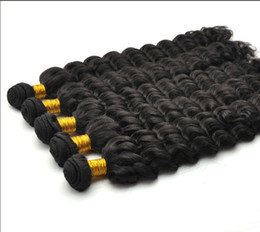Wholesale Indian Queen Virgin Remy Water Wave curly deep wave Natural Color Hair Weft quot quot No Shed No Tangle Hair DHL