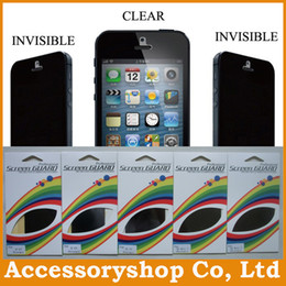Wholesale Galaxy S4 Privacy - Privacy Prevent Peep Screen Protector For iPhone 4 5 5S 5C Galaxy S5 S4 S3 Note 2 3 Crystal Clear Screen Guard & Retail Package 100pcs DHL
