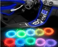 luces de cadena de luz de neón al por mayor-12 V Flexible Neon Light Impermeable LED String Lights EL Glow Tubo de cable de alambre con controlador para la decoración del coche