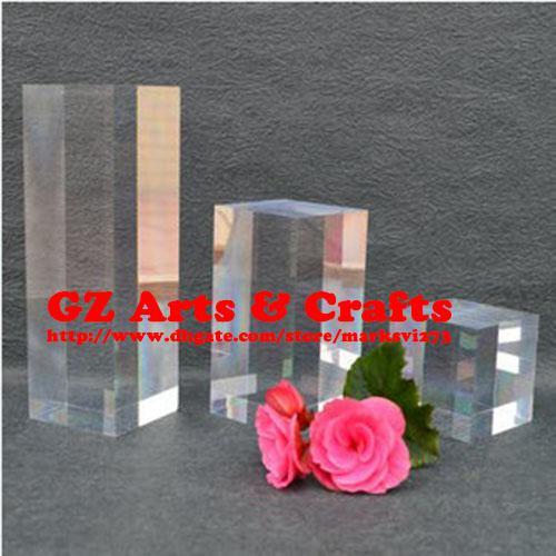 best selling Transparent Acrylic Square Column Plexiglass Box High Translucent Jewelry Display Stand