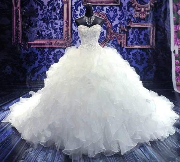 Großhandel 2016 Brautkleider Brautkleider Prinzessin Schatzkorsett ...