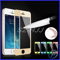 Colorful Tempered Glass for iphone 4 4S 5 5S 5C Front and Ba...
