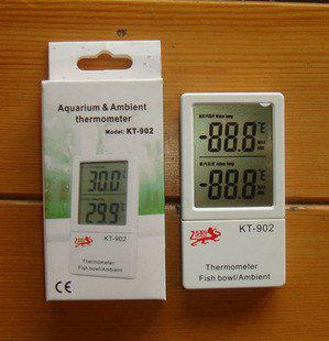 Brand New Fish Tank Aquarium Thermometer Wireless Sensor In Out Thermometer KT-902 KT 902 Free shipping