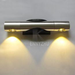 Wholesale Elegant Bedside Lamps - New Elegant Aluminum Alloy Movable 2W 85-265V LED Wall Light Bedside Passage Lamp Mirror Light White Yellow Purple Pink Green