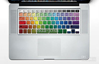 Decalcomania del vinile autoadesivi arcobaleno raffreddare portatile tastiera Sticker protettore decalcomania per Apple MacBook / Air / Pr
