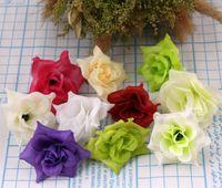 Wholesale Single Rose Decoration - 50Pcs lot 10Colors Rose Silk Artificial Flower Decorative Flowers Wedding Supplies Decorations Weddings & Events