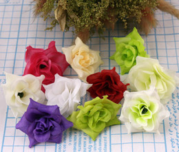 Wholesale Single Rose Decoration - Hot sell 50Pcs lot 10Colors Rose Silk Artificial Flower Decorative Flowers Wedding Supplies Decorations Weddings & Events